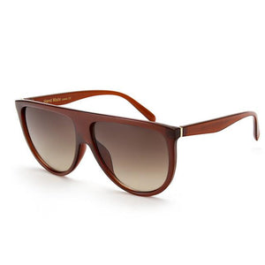 Designer Women Sunglasses Vintage Acetate Shaded Lens Thin Shadow Glasses Men RG0501 - Flickdeal.co.nz