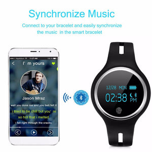 Waterproof Sport Bluetooth 4.0 Smart Wrist Band Bracelet Fitness Tracker With Message Call Reminder - Flickdeal.co.nz