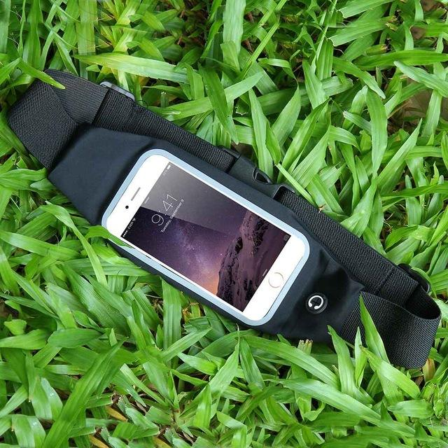 Sports Outdoor Gym Waist Phone Case For iPhone 6 6s 7 Plus Card Holder Earphone Hole Belt Case - Flickdeal.co.nz