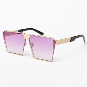 Women Oversize Women Sunglasses UV400 Gradient Vintage eyeglasses - Flickdeal.co.nz