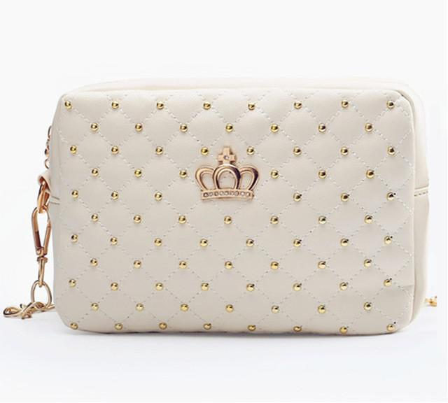 Women Chain Shoulder Bag Crossbody Quilted Crown bags - 6 Colours