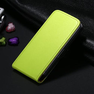 Retro PU Leather Case for iPhone 4 4S 5S 5 SE 6 7 - Vertical Magnetic Flip Phone Bag Cover for iphone - Flickdeal.co.nz
