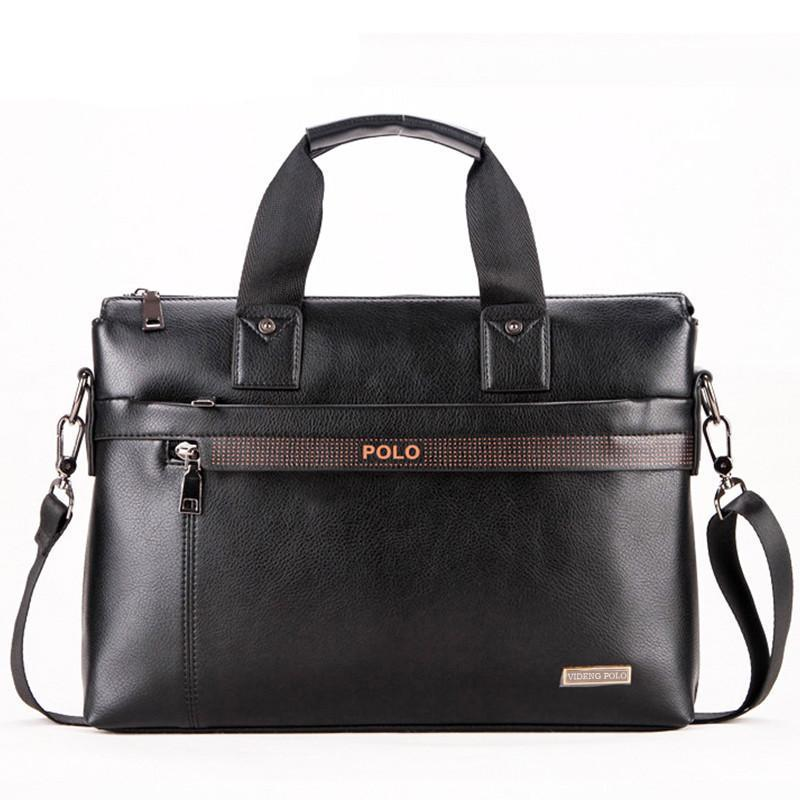 Men Business Shoulder Leather Bag Men Messenger Bags Computer Laptop Handbag - Flickdeal.co.nz