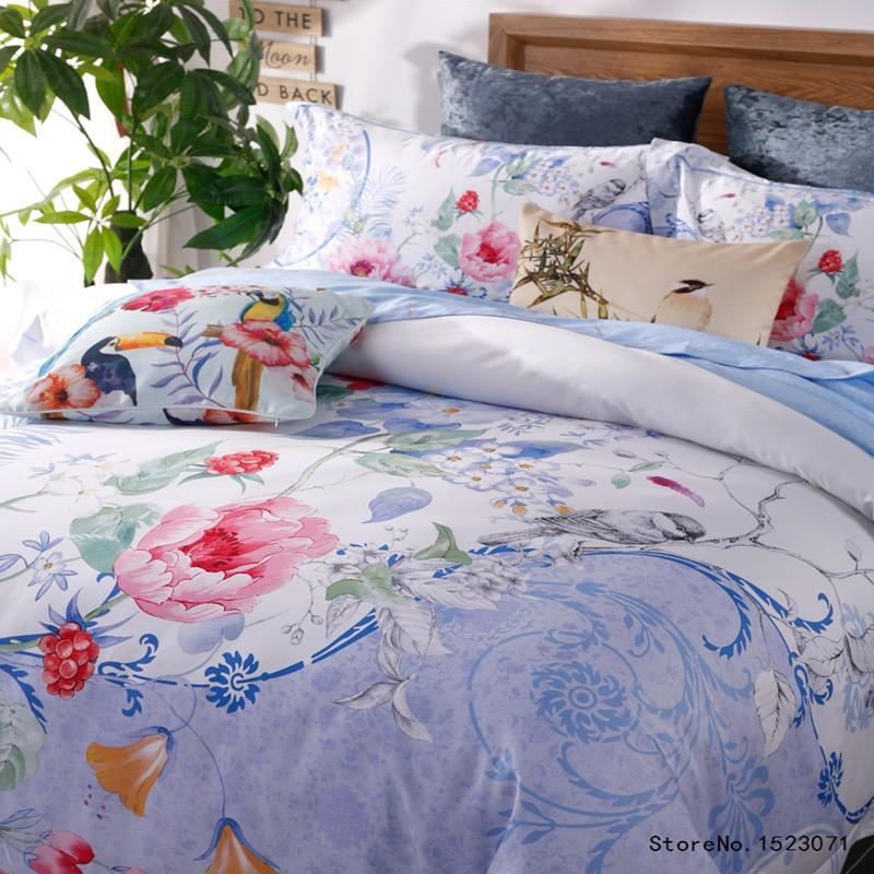 4 Pcs Luxury Egyptian cotton Satin Duvet Cover Bedding set - Flickdeal.co.nz