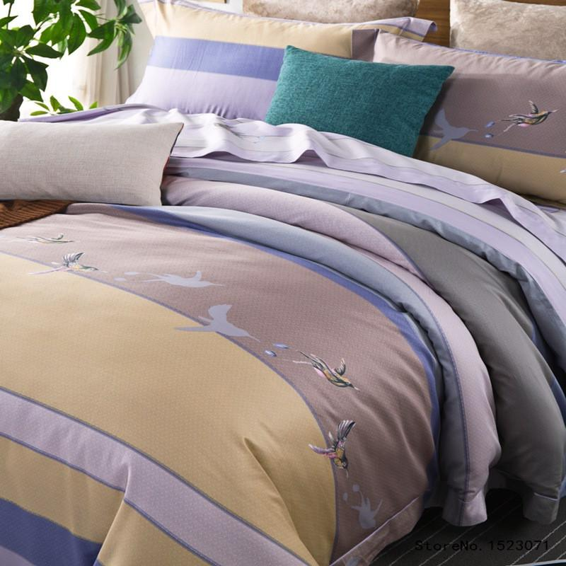 4pcs Luxury Egyptian cotton Duvet Cover Set with bed linen Sheet and Pillow cases - Flickdeal.co.nz