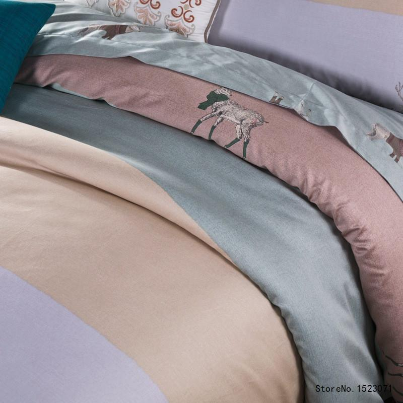 4 PCS Luxury Egyptian cotton bedding set - satin duvet cover , Sheet and Pillow cases - Flickdeal.co.nz