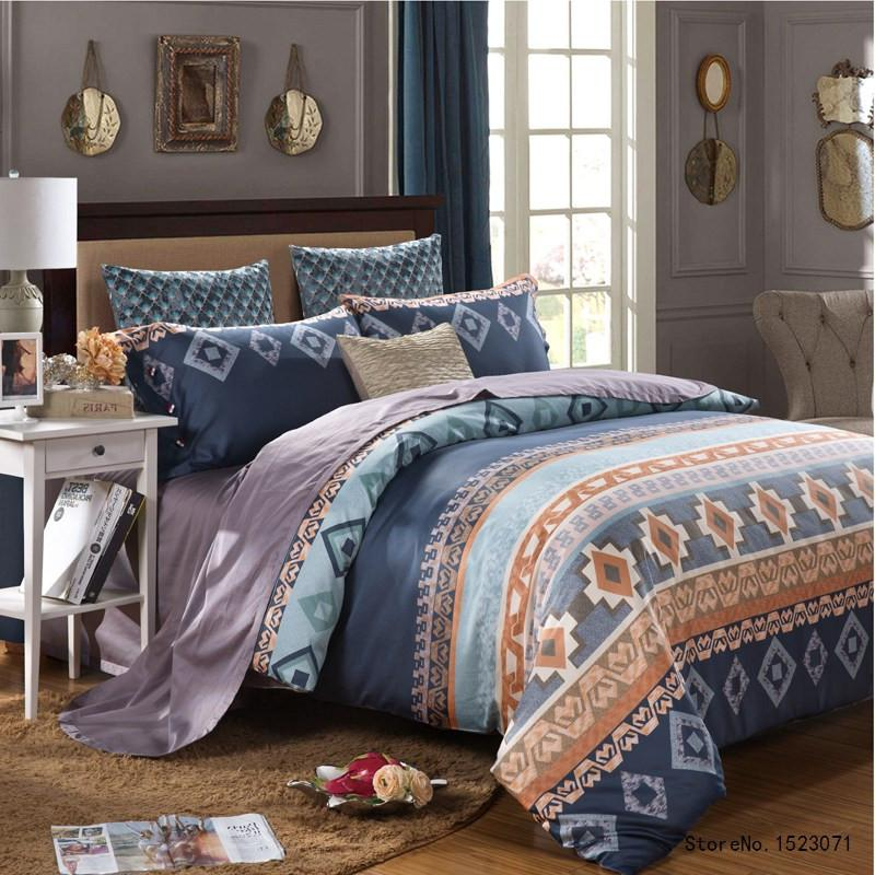4 Pcs Luxury Egyptian Cotton Vintage Style Bedding set with Duvet cover, Bed Linen and Pillow Cases - Flickdeal.co.nz