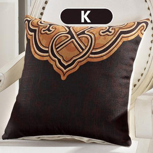 Vintage Butterfly Brown Black Cotton Cushion Cover Decorative Pillowcase 40151 - Flickdeal.co.nz