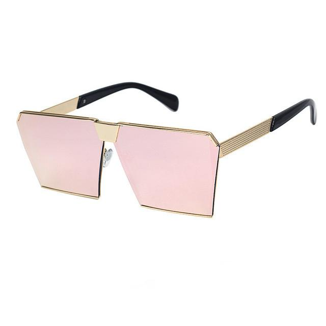 Women Sunglass - Designer Mirrored Glasses Shield style Oversize Sunglass RG812 - Flickdeal.co.nz