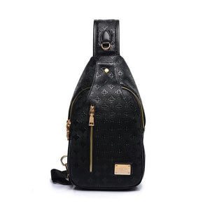 Chest Bags for Women Ladies Sling Crossbody Messenger Bags PU Leather Shoulder Bags - Flickdeal.co.nz