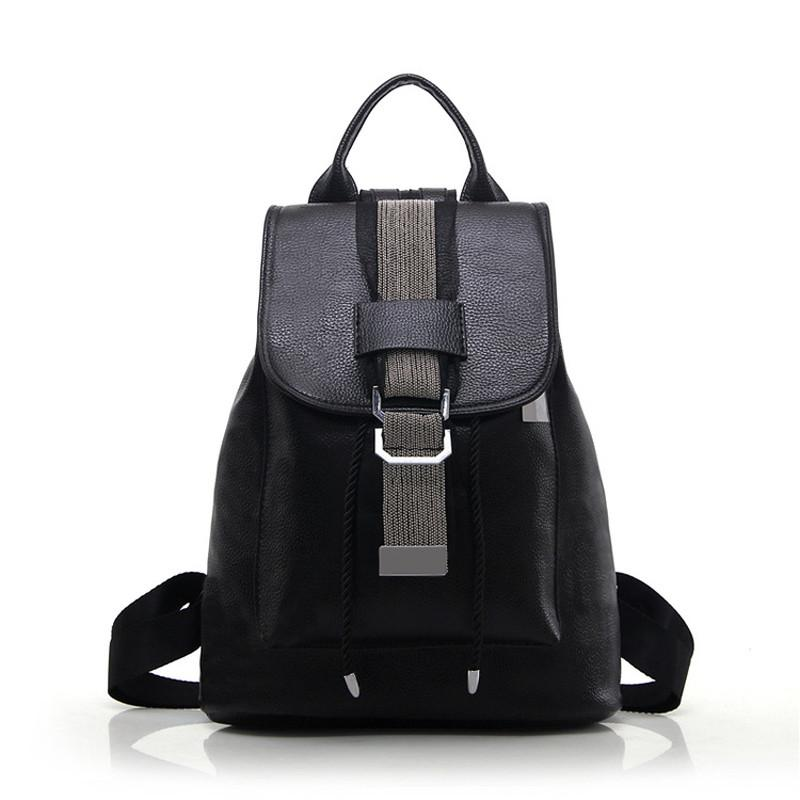 Women Backpacks Travel Shoulder Bags PU Leather School Backpacks for Girls Ladies Tote Bag - Flickdeal.co.nz