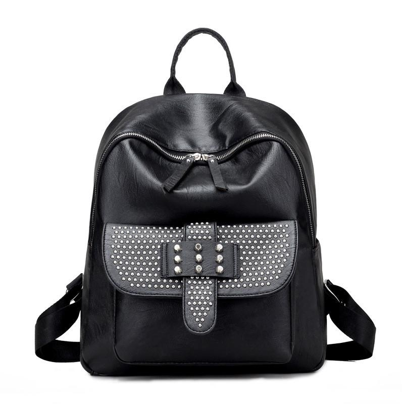 Women Backpack High Quality PU Leather School Bags For Girls - Flickdeal.co.nz
