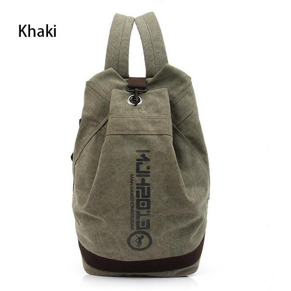 Canvas Backpacks Male And Female Students Backpack High-capacity School Bag