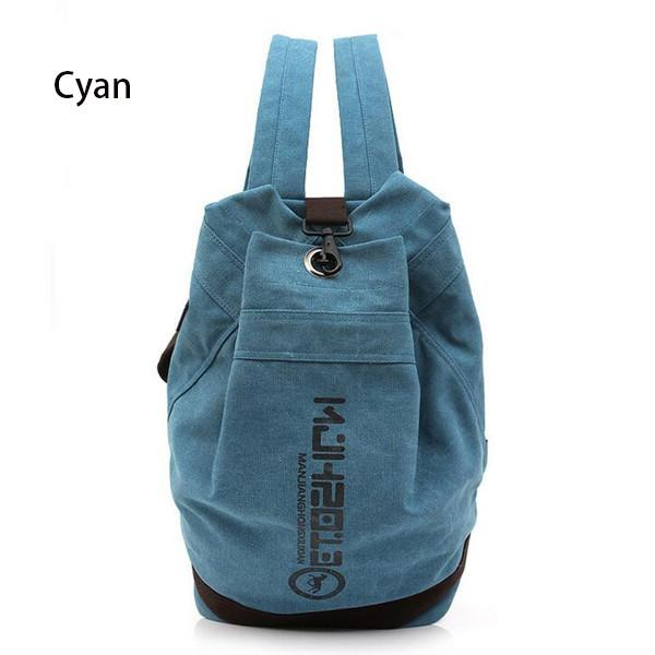 Canvas Backpacks Male And Female Students Backpack High-capacity School Bag - Flickdeal.co.nz