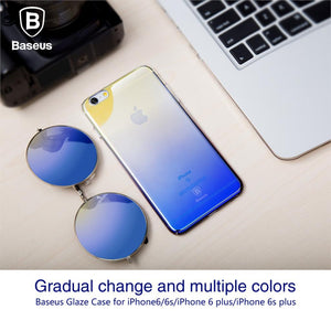 Gradient Color Phone Case For iPhone 7 6 6s 5 5s Plus Ultra Slim Hard Phone Cover - Flickdeal.co.nz