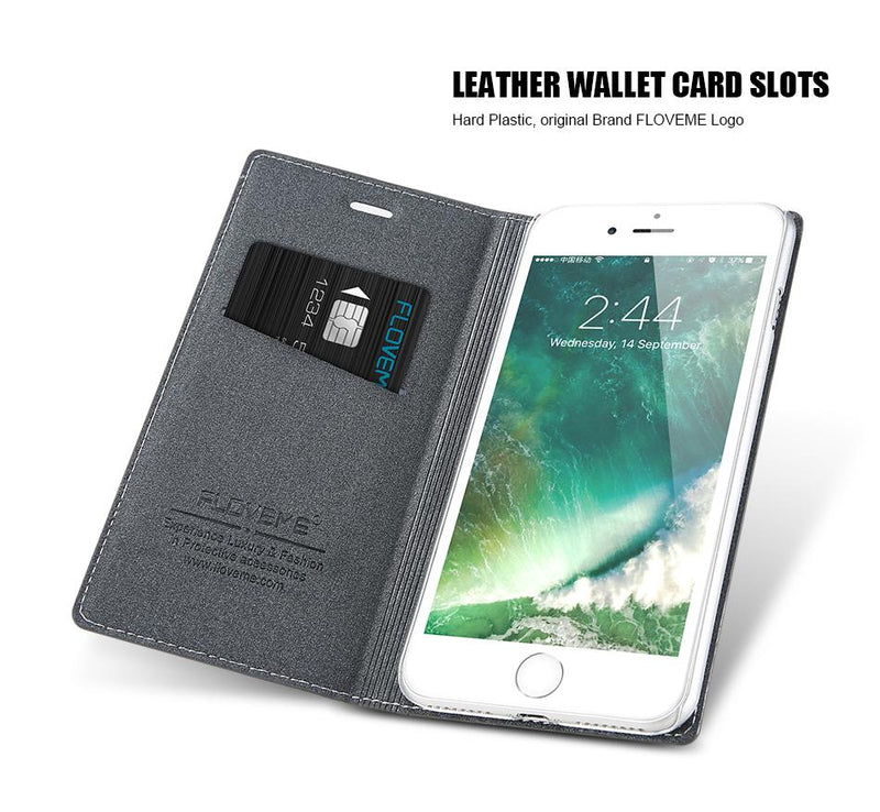 Flip Leather Case For Apple iPhone 6 6s /6 6s 7 Plus Wallet + Credit Slot Stand Cover For iPhone - Flickdeal.co.nz