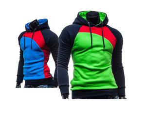 New Fashion Men Hoodies Sweatshirts Patchwork Pullovers for men 9 Colors - Flickdeal.co.nz