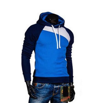 New Fashion Men Hoodies Sweatshirts Patchwork Pullovers for men 9 Colors