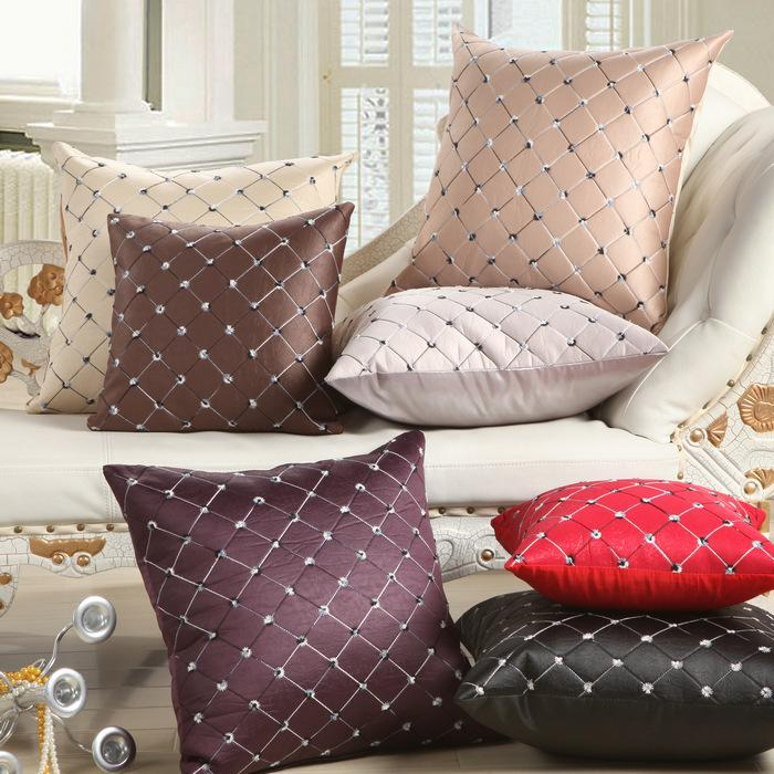 Purple Black Red Beige Red Cushion Covers Decorative Pillowcase - 7 Colors