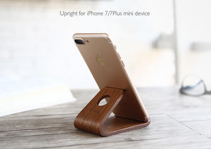 Wooden Mobile Phone Stand Holder For iPhone SE 6 6S 7 Plus 5s 5 Huawei Samsung S6 S7 Tablet Desk Holder - Flickdeal.co.nz