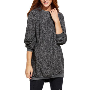 Fashion Women Blouse Winter Warm Long Sleeve O Neck Knitwear Pullover Long blusas feminina verao - Flickdeal.co.nz