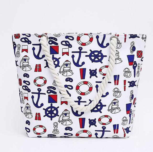 Canvas Floral Printing Shoulder Beach Bags Tote Shopping Bag -29 Designs - Flickdeal.co.nz