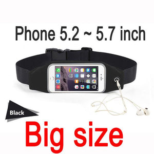 Sports Running Water Proof Case For iPhone 6 7 Plus Samsung Universal Waist Phone Bag - Flickdeal.co.nz