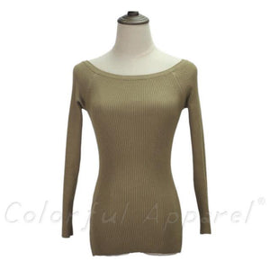 Women Long Sleeve Sweater  - 16 Colors - Flickdeal.co.nz