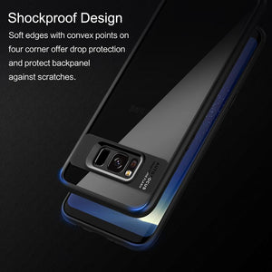 Samsung Galaxy S8 plus Case Full Protective Transparent Back Cover Case in Red Black Blue - Flickdeal.co.nz