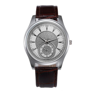 Men's Watches Leather Stainless Steel Dial Business Quartz Wrist Watch