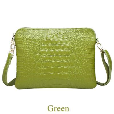 Genuine Leather Women Shoulder Bag Clutch Crocodile Pattern Messenger Bags - 10 Colours - Flickdeal.co.nz