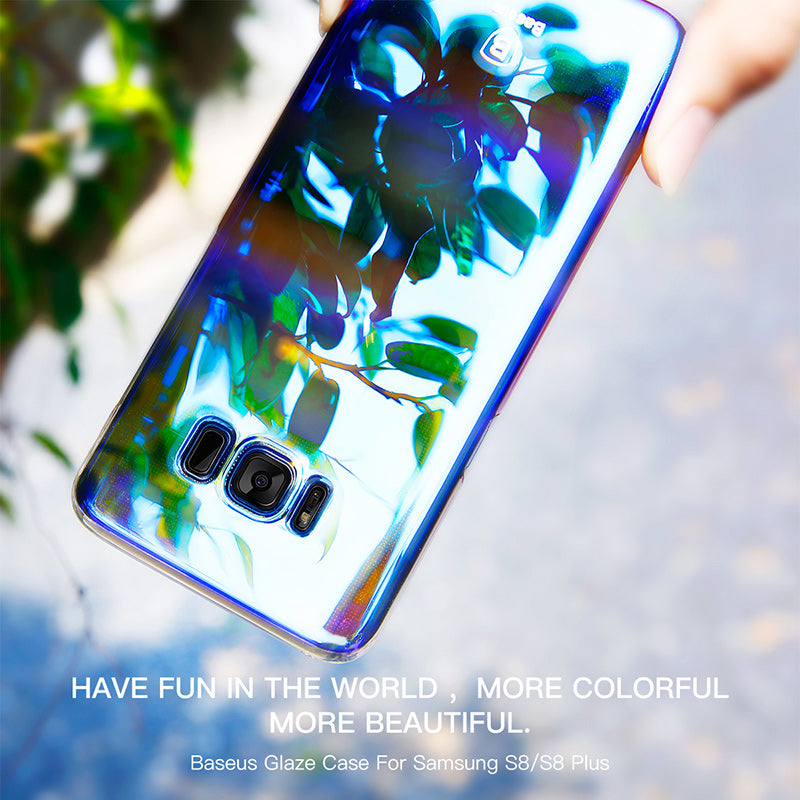 Case For Samsung Galaxy S8 / S8 Plus Aurora Gradient Color Transparent Hard PC Cover For Galaxy S8 S 8 Plus - Flickdeal.co.nz