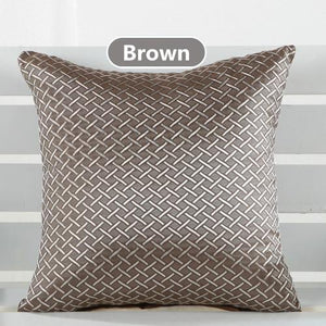 Solid Color 43*43cm Cushion Cover black brown Red Beige Grey - Flickdeal.co.nz