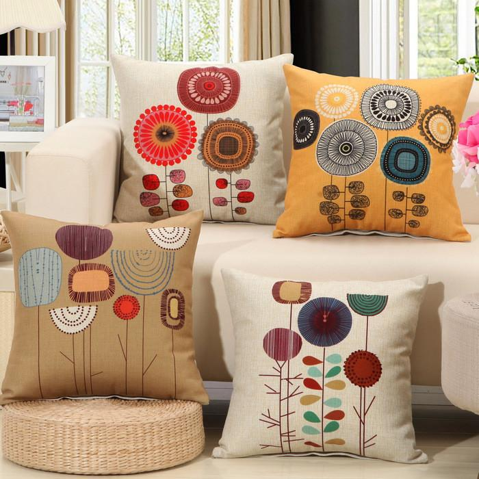 Cushion Covers - Flower Pattern Cushion Cover 40107