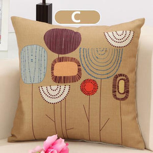 Cushion Covers - Flower Pattern Cushion Cover 40107 - Flickdeal.co.nz