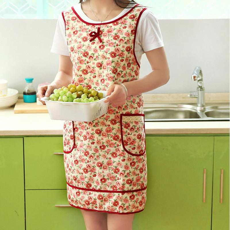 Apron - Flower Pattern Apron Kitchen Accessories 46019 - Flickdeal.co.nz
