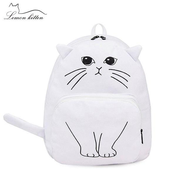 Cartoon Kitten Backpack for Girls Backpack Student School Bag N784 - Flickdeal.co.nz
