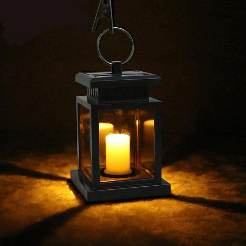 Waterproof Solar Flickering Flameless Solar LED Candle Lantern