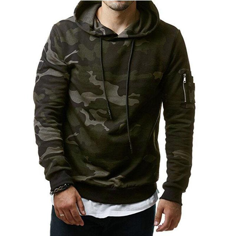 Mens Military Hoodies and Sweatshirts - Hooded Pullover for Men 3XL