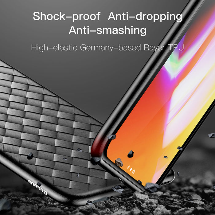 Weave Case For iPhone X IX Luxury Ultra Thin Slim Back Cover Case For iPhone 10