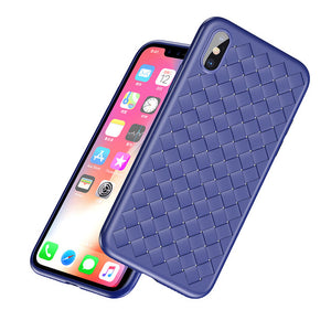Weave Case For iPhone X IX Luxury Ultra Thin Slim Back Cover Case For iPhone 10 - Flickdeal.co.nz