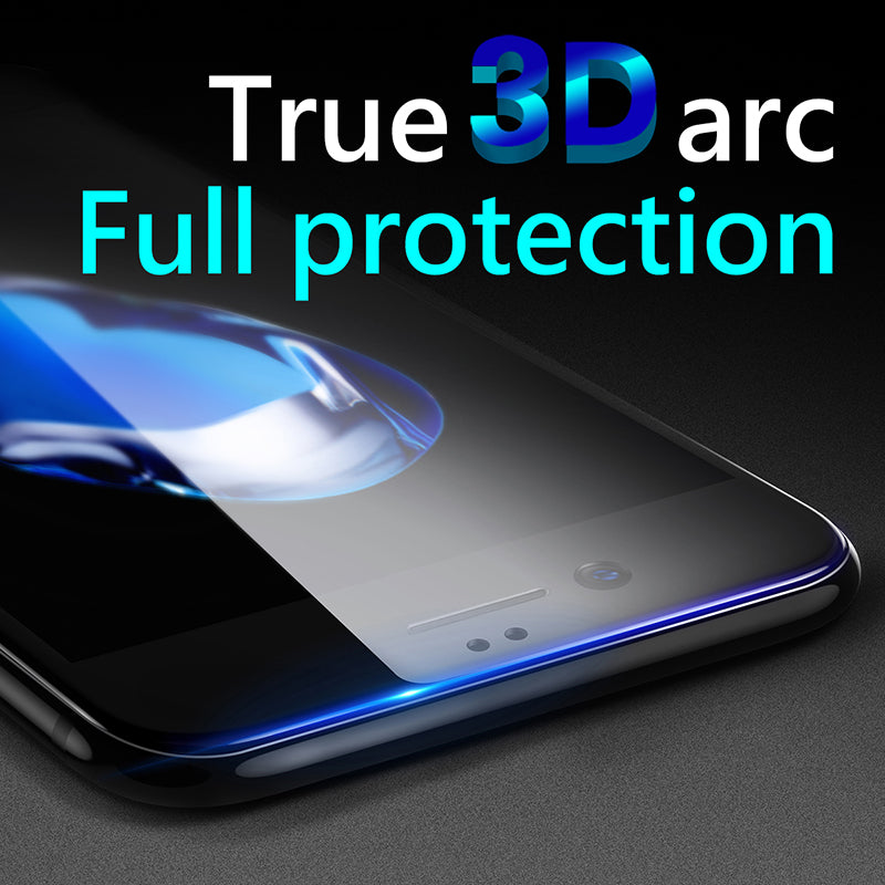 3D Screen Protector For iPhone 8 7 6 6s Baseus Premium Tempered Glass For iPhone 8 7 6 6s Plus Full Cover Protective Glass Film - Flickdeal.co.nz