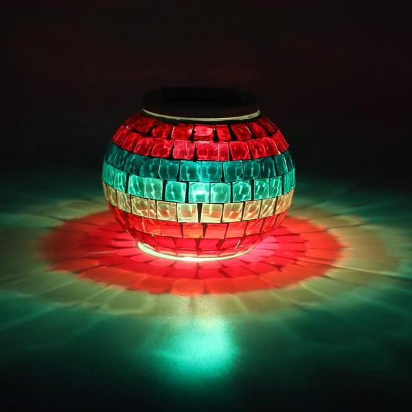 Glass Ball LED RGB Solar Garden Lights for Landscape