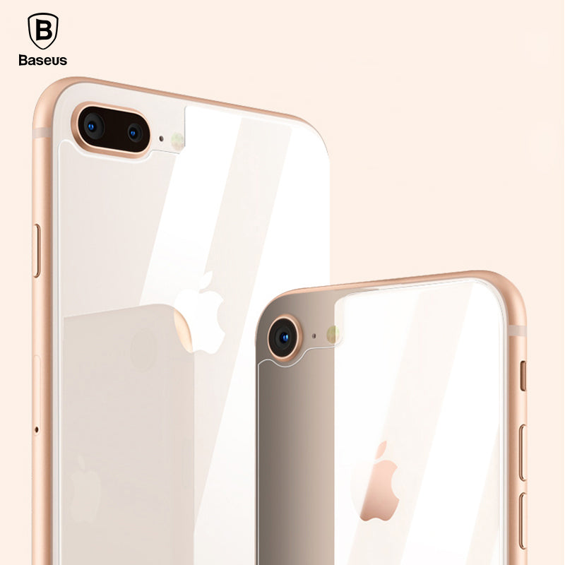 Back Screen Protector 0.3MM For iPhone 8 Rear Tempered Glass For iPhone 8 Plus Reverse Protective Toughened Glass Film - Flickdeal.co.nz