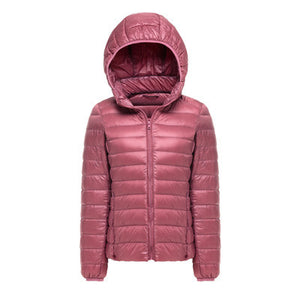 Woman Hooded Ultra Light Down Jackets - Flickdeal.co.nz