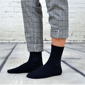 5 Pairs Mens Socks Anti-Skid Comfortable Warm Cotton Socks Long for Men - Flickdeal.co.nz