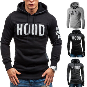 Men Winter Slim Hoodie Warm Pullover Sweatshirt Hooded Coat Outwear Tops - Flickdeal.co.nz