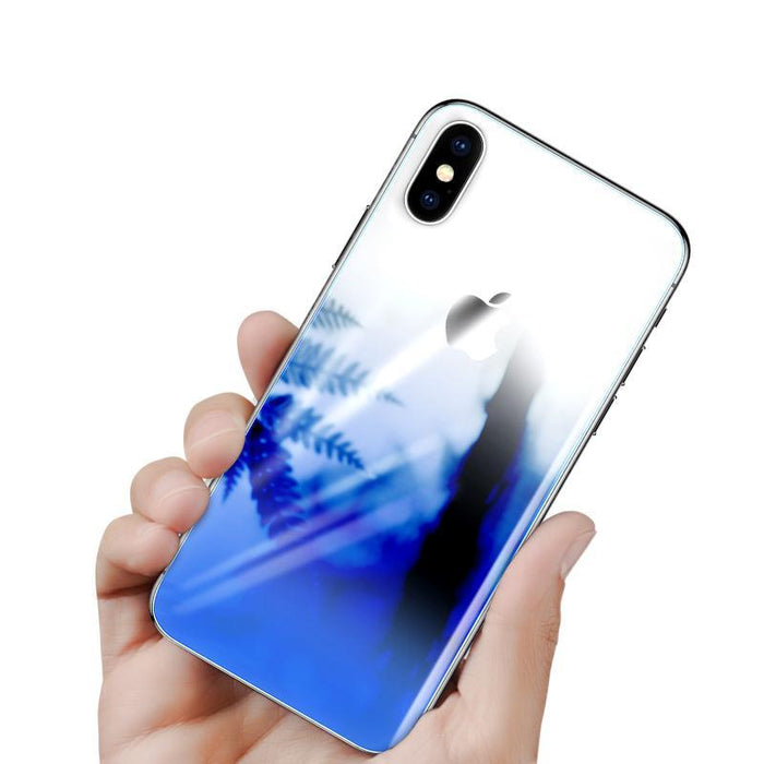 Back Screen Protector Tempered Glass For iPhone 10 Ultra Thin Gradient Anti Scratch Rear Toughened Glass Film For iPhoneX