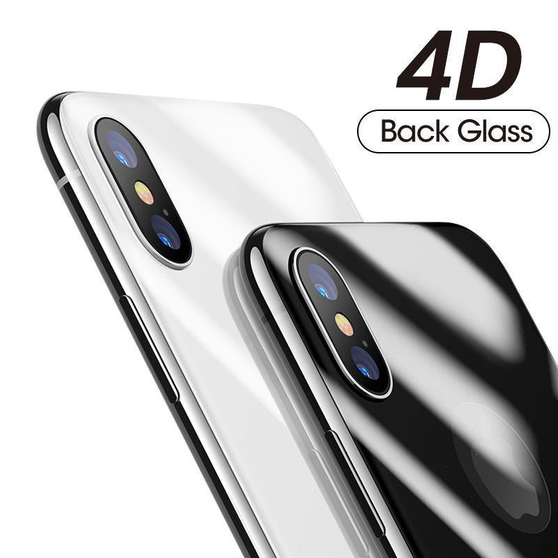 4D Back Screen Protector Tempered Glass For iPhone X 10 Full Body Cover Protection Rear Toughened Glass Film For iPhoneX - Flickdeal.co.nz