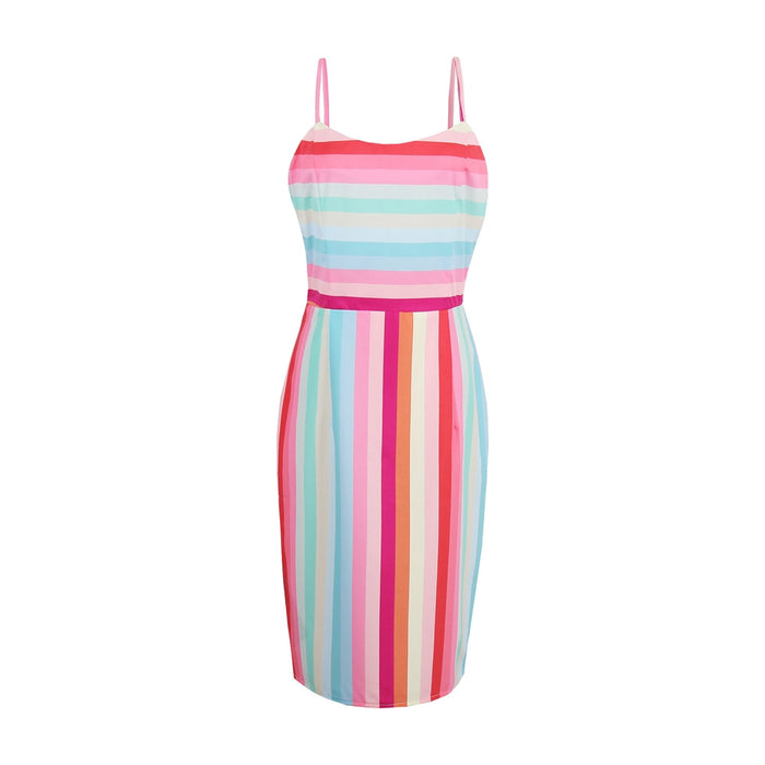 Pink Illusion Sheath Dress - TY89